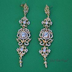 Teardrop Chandelier Swarovski Crystal Earrings Tastefully Dazzling Member Board Bride Bridal Party Fashion Pinterest