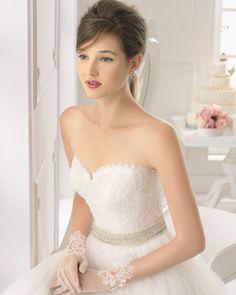 Astra vestido de novia corte evasé