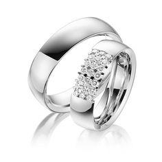 Q-1477-1 Platinum Wedding Rings, Engagement Rings, Jewelry, Diamond, Classic Wedding Rings, Unique, Couple, Bielefeld, Enagement Rings