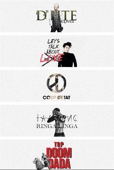 BIG BANG Solos 2013 by yghigh.tumblr