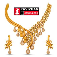 India Jewelry, Gold Jewelry, Indian Jewellery Design, Jewelry Design, Fashion Rings, Fashion Jewelry, Gold Necklaces, Neck Piece, Gold Set