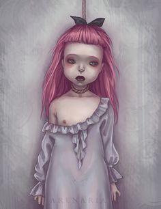 Virink artwork from Mya Arenaria ( Trevor Brown, Horror Movie Characters, Macabre Art, Postcard Art, Brown Art, Goth Art, Arte Horror, Creepy Art, Baby Art