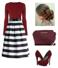 Maroon by selenna-aguilar on Polyvore featuring Warehouse, Chicwish, Michael Antonio, MICHAEL Michael Kors, White House Black Market, women's clothing, women's fashion, women, female and woman