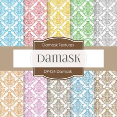 """Buy Damask Digital """"DAMASK DIGITAL"""" Digital Background, Damask Textures, Damask Paper, Digital Paper, Damask Background, Damask Rainbow 424 by digitalpaperstore. Explore more products on http://digitalpaperstore.etsy.com"""