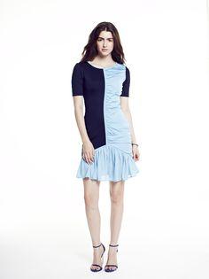 3cc861e0f4ad Paula Hian | #SS15 | Abelia Ruched Dress in Midnight/Azure. Designer  Cocktail