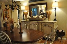 Wooden Bowl Centerpiece Dining Rooms