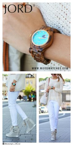 Dive into the cool turquoise tones of our Cora, perfectly balanced by the warm and untamed Zebrawood grain. This watch is a lovely pop of color to accent your minimal and monochromatic looks. Find your exclamation point at www.woodwatches.com