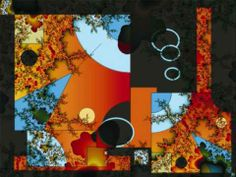 Secuencias de un Monólogo. Diseño fractal con música de fondo Electrónica Celular