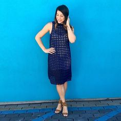 Circle Lace Midi Shift #Anthropologie #MyAnthroPhoto