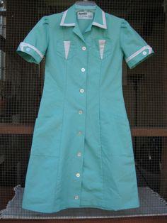twin peaks diner dress on etsy (sold)  http://www.etsy.com/listing/31063167/vintage-turquoise-waitress-uniform-dress