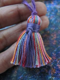 Tiny Rainbow Tassel Handmade USA Necklace Colorful Tassel Pendant Mala Fringe Yoga Tassel for Making Jewelry Mala Tassels for Prayer Beads