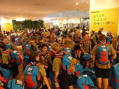 23rd World Scout Jamboree, Japan 2015 4 Units all arriving at 2am at Narita Airport.