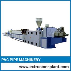 Pvc Pipe Machinery  Be acquainted with the recent market need, we have established the latest technical amenities to offer cost effective and well performing series of PVC pipe machinery. We offer our machinery with negligible rejection rate.  It is designed with 'cad' modeling system and fabricated with brilliant monitoring and inspection approach. The main aim of higher productivity is achieved through robust construction and modern control system.