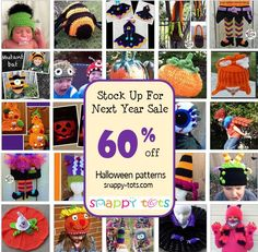 Stock up on crochet patterns for next year's Halloween for a limited time. No coupon code needed. CLICK HERE to start shopping! IF, for some reason, discount does not show up for one of the pattern...