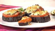 Fast and Healthy Eggplant Parmesan ( Mark Bittman ) Healthy Eggplant, Eggplant Parmesan, Eggplant Recipes, Eggplant Dishes, Low Carb Recipes, Cooking Recipes, Healthy Recipes, Cooking Time, Healthy Foods