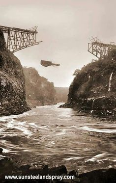 Buillding the Vic Falls Bridge