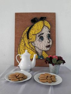 Alice in wonderland string art. #stringart #ad #wallart #handmade #homedecor #walldecor #disney #aliceinwonderland #alice #girlsroom #birthdaygifts #giftideas