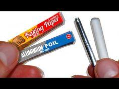 how to: miniature aluminum foil and parchment baking paper