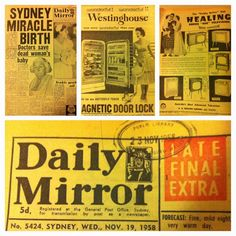 All things new york the big apple pinterest typography newspaper from 1958 fandeluxe Image collections
