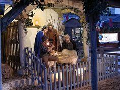 Krippe auf dem Friedrichshafener Weihnachtsmarkt