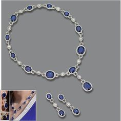Sapphire and diamond set own by Lalla Salma of Morocco
