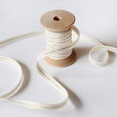 metallic line italian ribbon