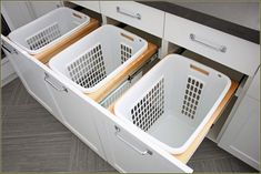 Built In Laundry Hamper Planning — Home Inspirations Laundry Hamper Cabinet, Laundry Room Organization, Laundry Room Design, Laundry Basket, Laundry Drying, Laundry Closet, Small Laundry, Ikea Laundry Room Cabinets, Tilt Out Laundry Hamper