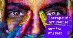 Get our Therapeutic Art course for only $72 - limited time only. #mentalhealthjournal #art #artcreative Mental Health Journal, Art Courses, Art Therapy, Creative Art