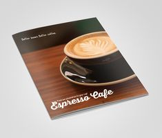 Freebie Coffee Shop Bifold Brochure Template  Free Psd Files