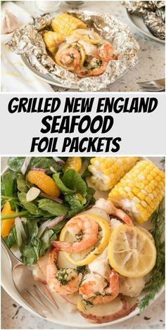 Grilled New England Seafood Foil Packets recipe from RecipeGirl.com #grilled #new #england #newengland #seafood #foil #packets #recipe #RecipeGirl Fun Easy Recipes, Healthy Dinner Recipes, Easy Meals, Vegetarian Recipes, Foil Packet Meals, Foil Packets, Restaurant Recipes, Seafood Recipes, Spicy Recipes