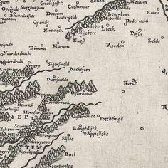 Kaart van Friesland, Groningen, Drenthe en Overijssel, anonymous, after Jacob van Deventer, 1566 - Rijksmuseum