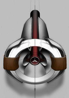 Mercedes-Benz Unimog Concept Steering Wheel Design Sketch