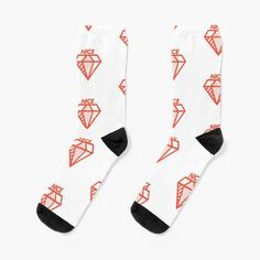 """nice diamond doodle"" Socks by gr8gatsbriela   Redbubble Diamond Doodle, Crew Socks, Cotton Tote Bags, Chiffon Tops, Bubbles, Doodles, Knitting, Nice, Red"