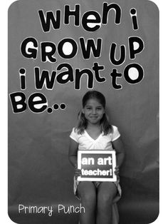 """Bulletin board with """"When I grow up I want to be..."""" then student completes sentence with an iPad app called Big Words.  Can turn it into a slide show for the class, too."""