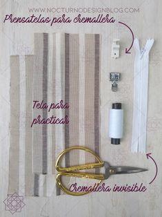 2 formas de coser una cremallera invisible – Nocturno Design Blog Baby Sewing, Sew Baby, Design Blog, Wall Lights, Zipper, Album, Patterns, Videos, Fashion