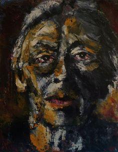 Portrait of Kathe Kollwitz, Oil on Canvas 14x11