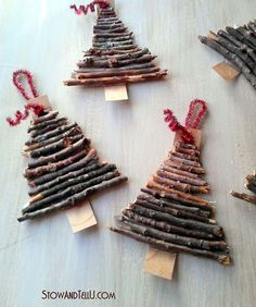 twig christmas tree ornaments, christmas decorations, crafts, seasonal holiday…