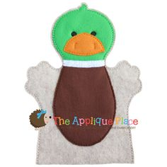 Mallard Hand and Finger Puppet In The Hoop by TheAppliquePlace, $4.00