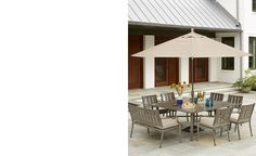 Wayland Outdoor Aluminum 9-Pc. Dining Set (64 Square Dining Table & 8 Dining Chairs) - Furniture - Macy's