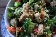 """""""quinoa-salat, søtpotet-pommes frites""""  #meatless"""