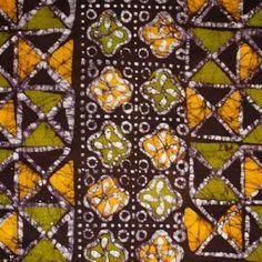 Batik Fabric Gold, Olive Green & Dark Chocolate Green And Purple, Olive Green, Craft, Fabrics, Textiles, Quilts, Blanket, Chocolate, Dark