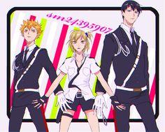 Pixiv Id 4026161, Haikyuu!!, Hinata Shouyou, Hitoka Yachi, Kageyama Tobio, Handcuffs