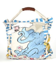 Look what I found on #zulily! Horton and Friends Tote #zulilyfinds A great Library Book bag!