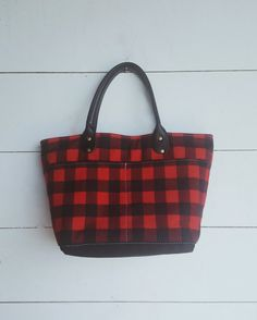VIDA Tote Bag - Buffalo Plaid by VIDA LNgd0HPE7