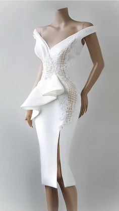 Styles Inspiration: All the Styles from White Cloth - Ways to Wear Them - Beradiva African Fashion Dresses, African Dress, Lace Dress, Dress Up, White Dress, Short Dresses, Prom Dresses, Dress Outfits, Fashion Outfits