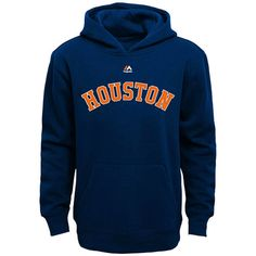 Houston Astros Majestic Youth City Twill Hoodie - Navy - $34.99