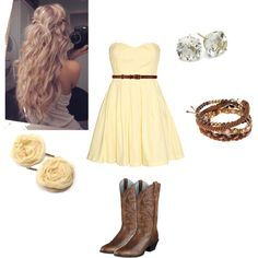 Country sunshine...Chelsea Vanacore this outfit made me think of you & the hair, Just beautiful...