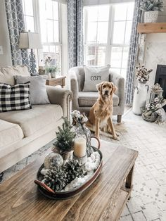 Cozy winter living room vibes with a decorated tray and cozy pillows home decor cozy Cozy Winter Living Room Decor! The perfect transition after Christmas! Winter Living Room, Christmas Living Rooms, Cozy Living Rooms, Home Living Room, Living Room Furniture, Living Room Designs, Living Room Decor, Wooden Furniture, Antique Furniture
