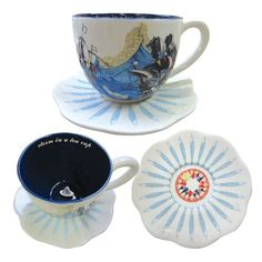 View Sea Breeze Cup and Saucer in more detail Personalised Bauble, Personalized Gifts, Tea Cup Saucer, Tea Cups, Happy Unbirthday, Disaster Designs, My Cup Of Tea, Chocolate Pots, Tea Set