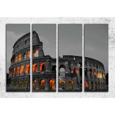 Tablou Roma canvas 4 piese, 120 x 80 cm, care ilustreaza intr-o maniera originala o imagine a uneia dintre cele mai cunoscute cladiri ale antichitatii, Colloseumul. Comanda online tablou Roma pe aa-design-interior.ro.